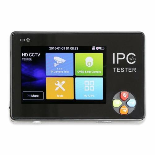 3.5 Inch HD IP CCTV Tester Monitor CVBS AHD CVI TVI 8MP WIFI ONVIF 12V Output