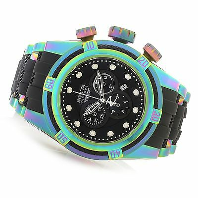 22841 Invicta Reserve 53mm Bolt Zeus Swiss Chronogra Iridescent Case Strap Watch