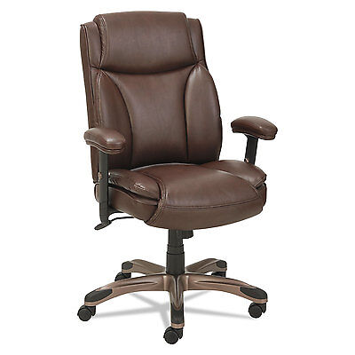 Alera Veon Series Leather MidBack Manager's Chair w/Coil Spr