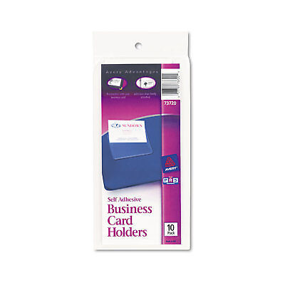 Avery Self-adhesive Business Card Holders Top Load 3-12 X 2 Clear 10pack 73720