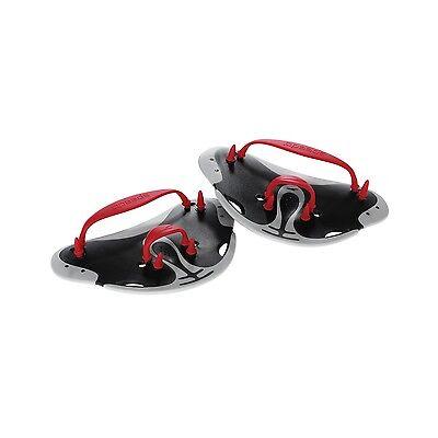 Speedo Swim Biofuse Finger Paddles Water Training Exercise Black Red 7530258-001