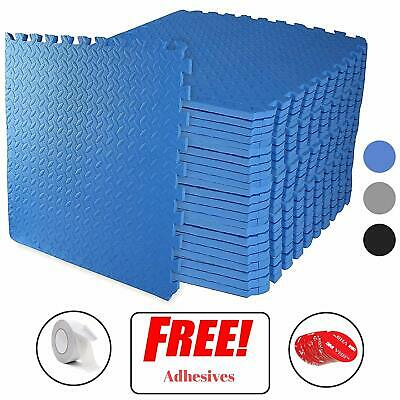 Interlocking BLUE Heavy Duty EVA Foam Gym Flooring Floor Mat Tiles 60X60X1 cm