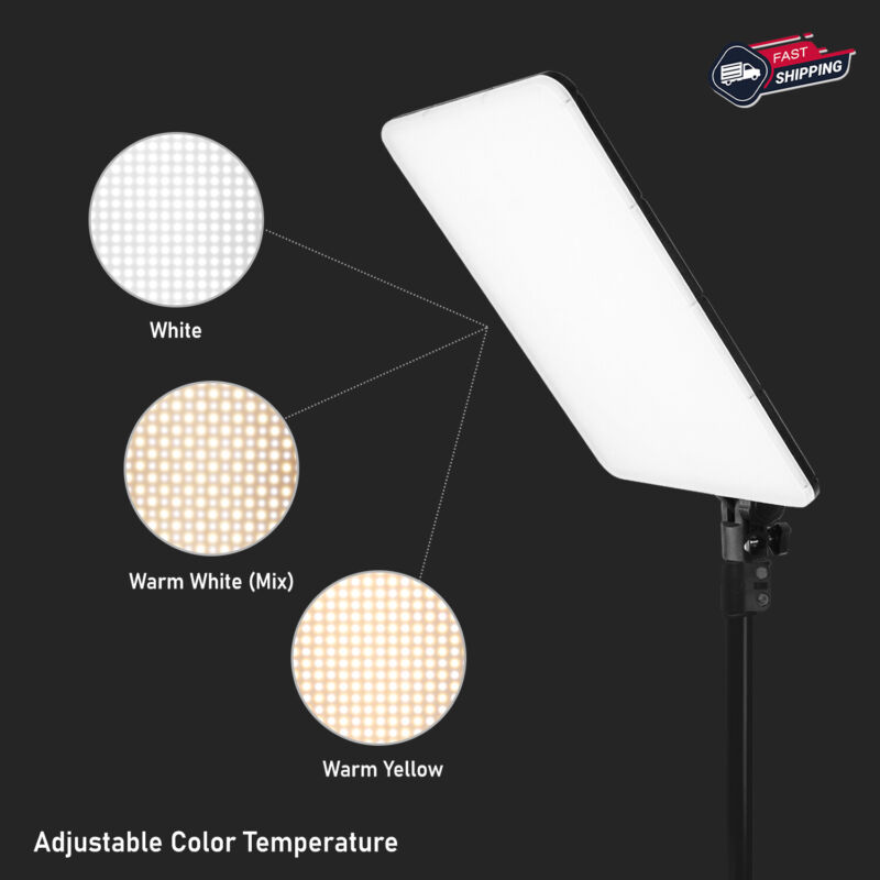 "Dimmable Studio Video LED Photo Light Panel 10"" x 14"" Dual-Color Temperature US"