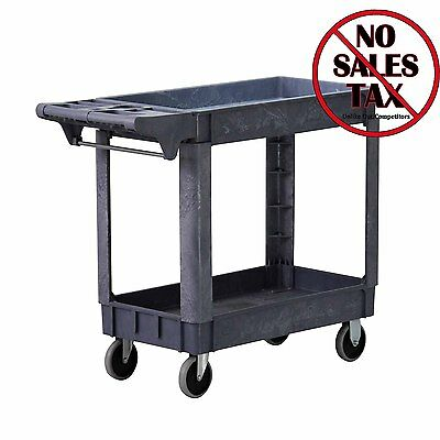 Service Rolling Storage Cart Kitchen Utility Wheeled Shelf Trolley 500 Pound