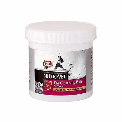 NUTRI VET EAR CLEANSING CLEANING PADS DOG REMOVES DIRT & WAX. FREE SHIP TO USA