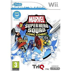 Nintendo Wii game ** U DRAW MARVEL SUPER HERO SQUAD COMIC COMBAT  ** new sealed