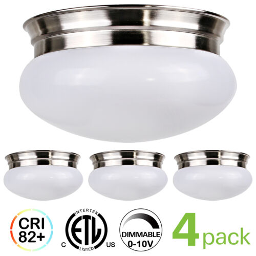 LED Ceiling Light Fixture Flush Mount 9 Inch 980lm Dimmable