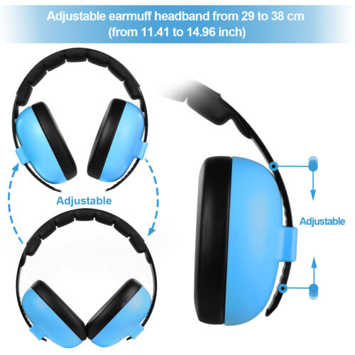 Baby Ear Defender Noise Cancelling Headphones for Kids Noise Reduction Earmuffs Adjustable Headband Hearing Protection for 0-3 Baby//Years Infant//Toddlers Blue