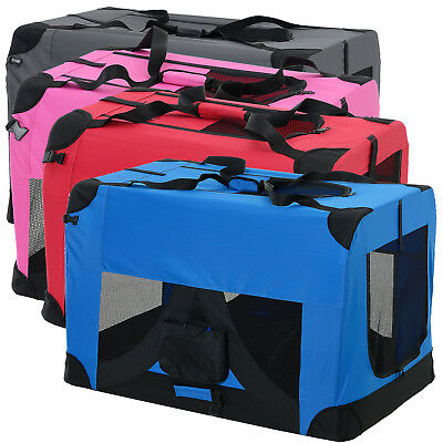 PRO.TEC® Hundetransportbox S - XXXL Faltbar Transportbox Hunde Box Trage Tasche