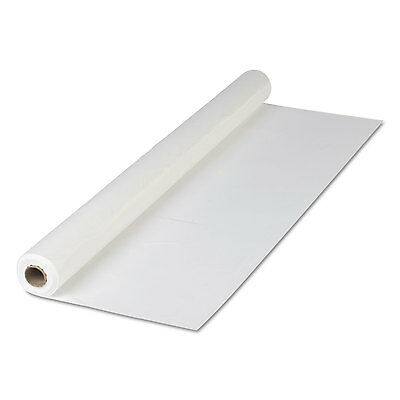 "HOFFMASTER Plastic Roll Tablecover 40"" x 300 ft White 114000"