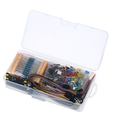 830 Breadboard Set Electronics Component Starter Diy Kit With Plastic Box L4y0