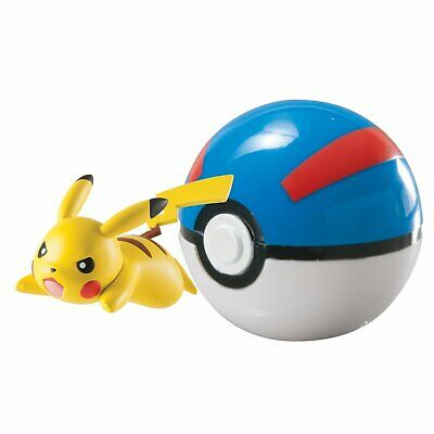 Pokemon Poke Ball Pikachu Character Gacha Capsule Toy Mini Figure Collection