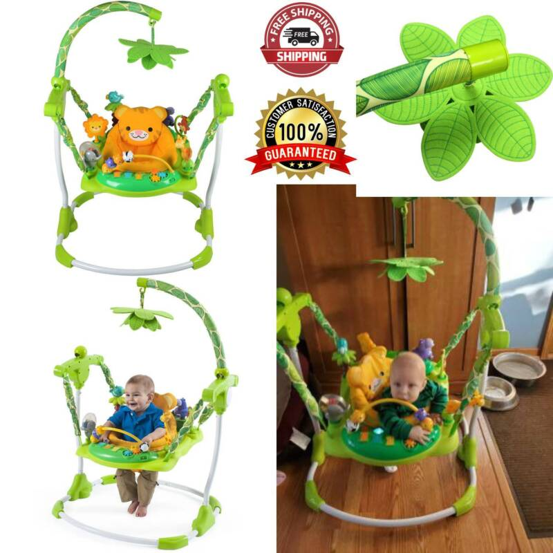 Easy to Assemble Baby Jumper 10 Activity Play Toy Comfortable Seat Bouncer New