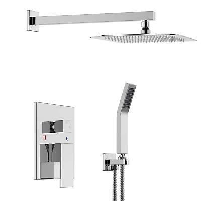 (Bathroom Luxury Rain Mixer Shower Faucet Combo Set 8 inch Rainfall Shower Head )