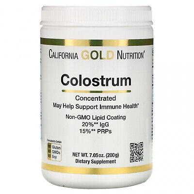California Gold Nutrition Colostrum Non-GMO Lipid Coating 7.05 oz (200 g)
