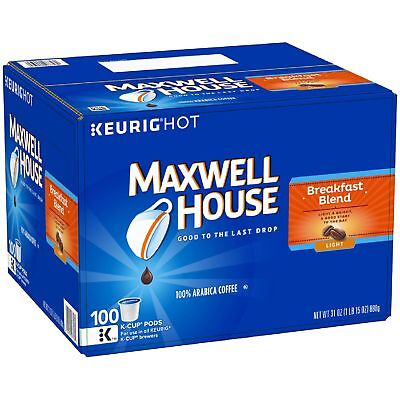 Maxwell House Breakfast Blend Coffee 100 K-Cups Brand New Fast shipping!