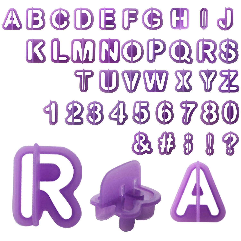 Fondant Ausstecher Set - Buchstaben und Zahlen Ausstechformen Backzubehör