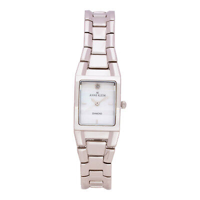 Anne Klein 10-7255MPSV Women's 22mm Stainless Steel Mother of Pearl Watch