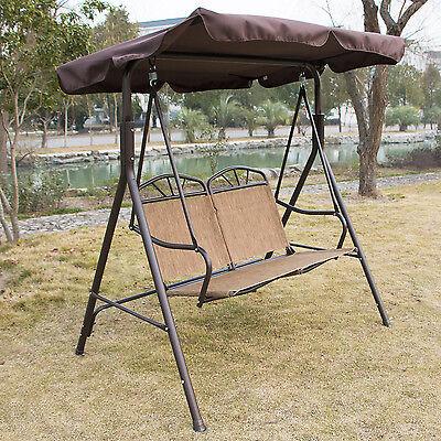 Outdoor 2 Person Canopy Swing Glider Hammock Patio Furniture Romantic Love Seat