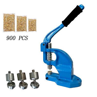 Hand Press Grommet Machine Eyelet Punch Hole Tool 3die 024 900 Banner Kit