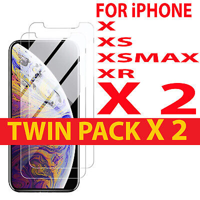 2PACK FOR iPHONE X,XS,XR,5S,SE,6,7,8+,100% BEST QUALITY TEMPERED GLASS (Best Tempered Glass Screen Protector Iphone 5s)
