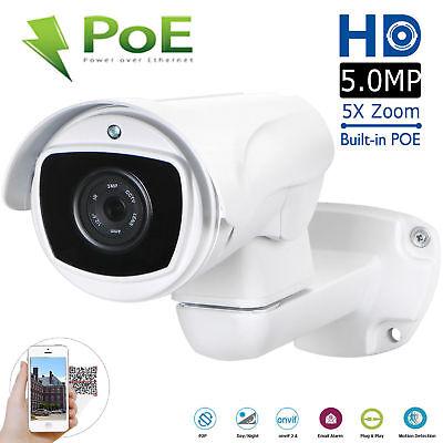 CCTV 5.0MP Mini Outdoor IR Bullet IP PTZ Camera 5x Optical zoom POE HD Security Outdoor Mini Bullet