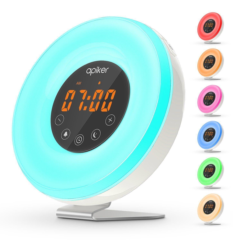 Apiker Wake-up Light Alarm Clock with Sunrise Simulation