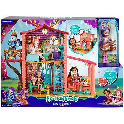 Enchantimals FRH50 Cosy House Playset with Danessa Deer Doll and Sprint Figure