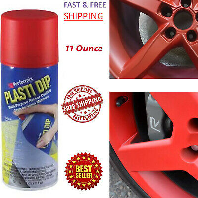 Plasti Dip Rubber Coating Spray Paint Matte Red Color Diy Car Wheels Rims Cans