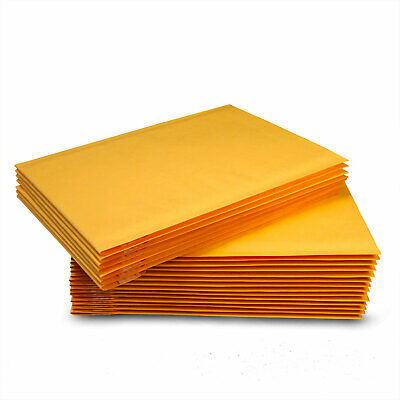 100 0 6x10 Kraft Paper Padded Bubble Mailers Envelopes Shipping Case Bags 6x9