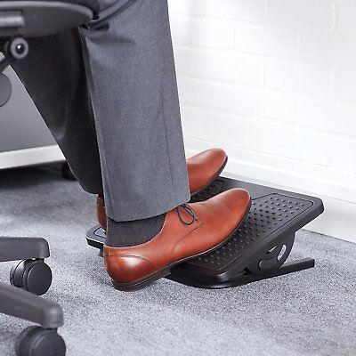 HIGH QULETY Adjustable Pedal Foot Rest Stool Angle for Under Office Chair Desk ()