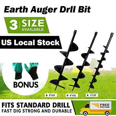 For 52cc Gas Powered Earth Auger Fence Auger Drill Bit 468 Drill Bit New 10
