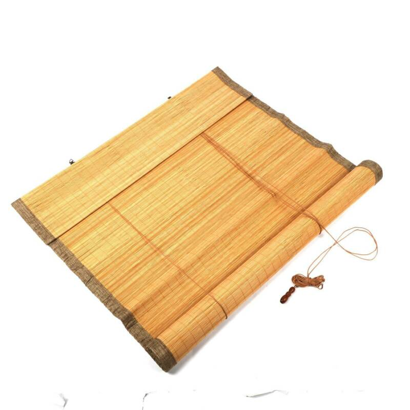 "Bamboo Roll Up Window Blind Sun Shade 70.8"" x 35.4"" For Indo"