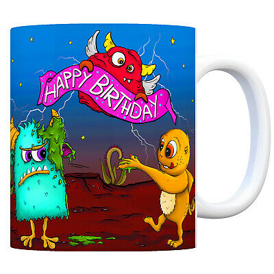 Happy Birthday - Kaffeebecher Monster Geburtstagsparty Monstergeburtstag