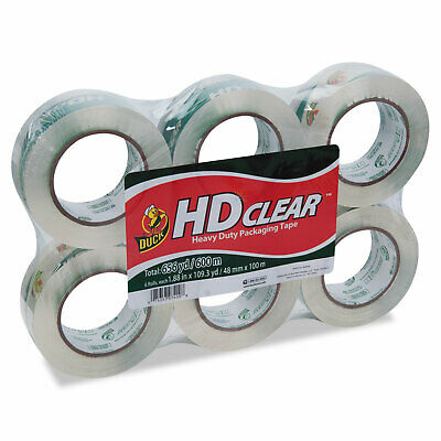 Duck Heavy-duty Carton Packaging Tape 1.88 X 110 Yards Clear 6pack 299016