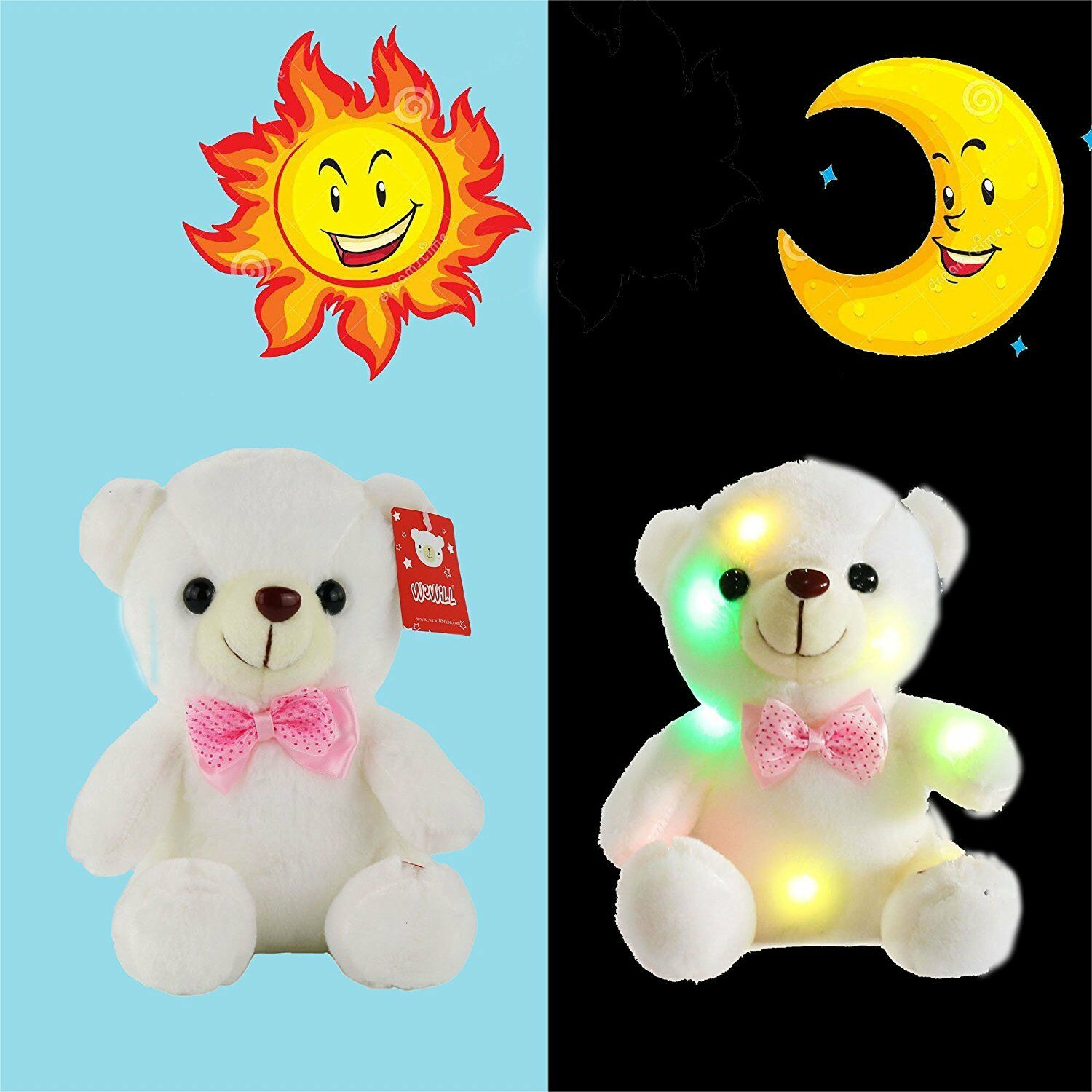 Toys Cute Baby Toys for Girl LED Stuffed Bear Toy Kids Night Light Xmas Gifts