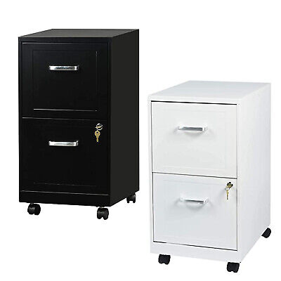 2 Drawer File Cabinet 18 Deep Metal Filing Cabinet With Lockwheels Letter Size