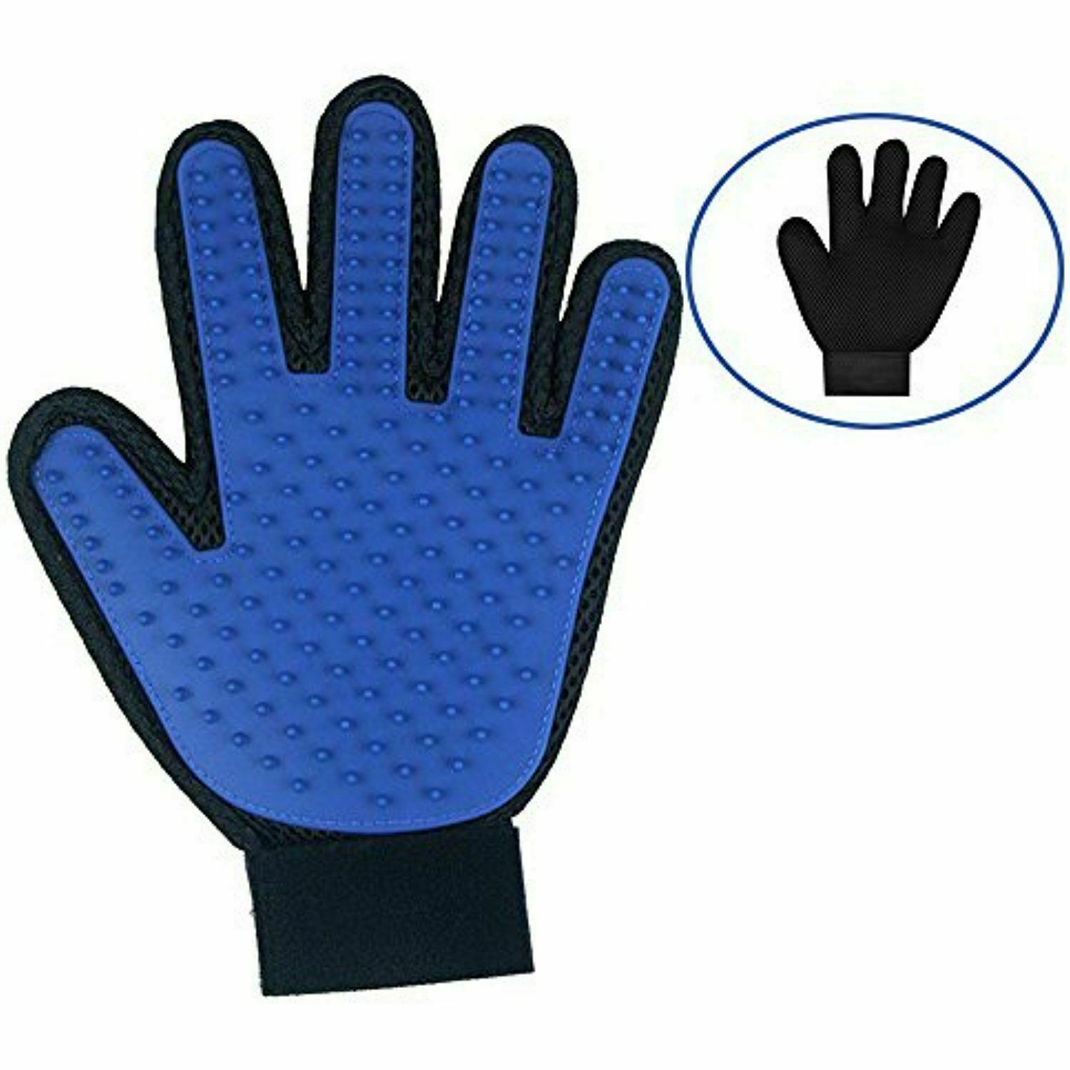 New LEFT HAND Dog Pet Grooming Glove & Hair Remover with Gentle Deshedding Brush Brushes, Combs & Rakes