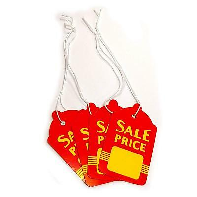 Large Red Yellow Strung Boutique Sale Price Tags 1.6 W X 2.7 H Wholesale
