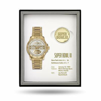 New York Jets Super Bowl III 3 Watch & Coin Gift Set Limited 50 sets MSRP: $375