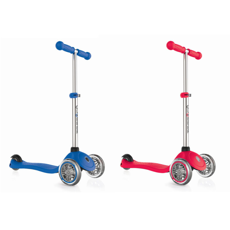 Globber Primo 3-Wheel Adjustable Kids Kick Scooter with Comfort Grips (2 Pack)