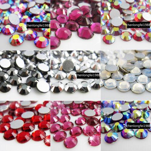 1440pcs Crystal Diy Flatback Non Hotfix 3d Nail Art Rhinestones Tips Decoration
