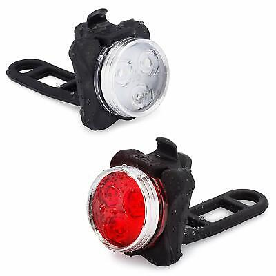 BEST Rechargeable LED Bicycle Light Bike Headlight + Tail Light SUPER BRIGHT (Best Cycling Tail Light)