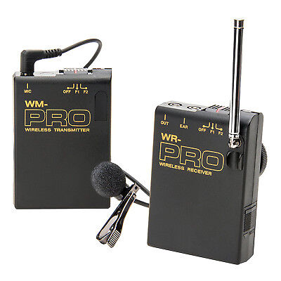 Pro MC2000U WLM wireless lavalier mic for Sony VX2000 VX2100 better clear (Best Wireless Mics For Camcorders)