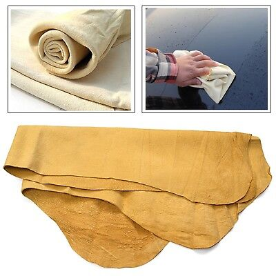 Natural Leather Chamois Cloth Genuine Car Washing Absorbent Wipe Cleaning Towel