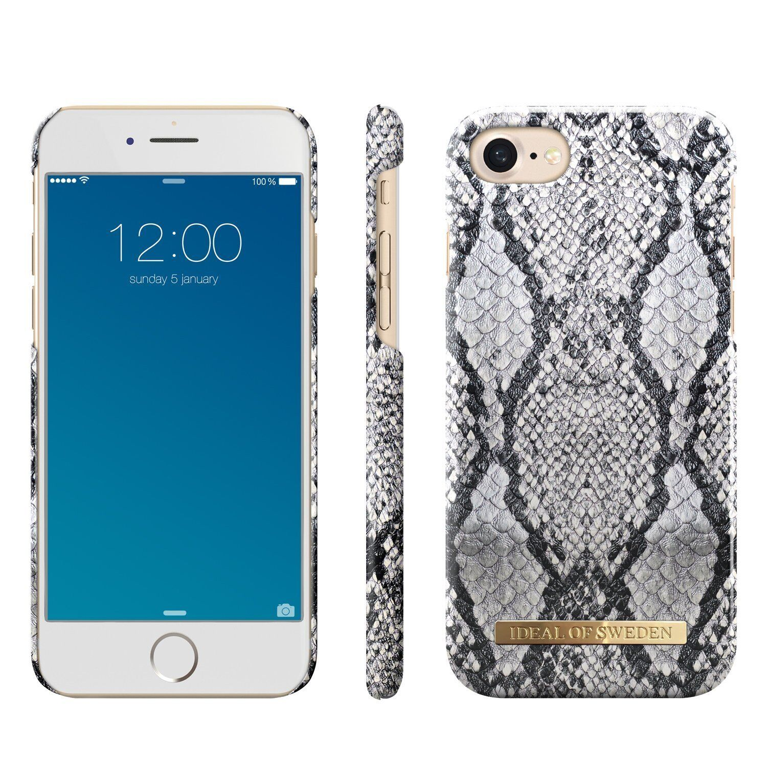 hot sale online 13dfc a7f37 Details about iDeal of Sweden iPhone 7 iPhone 8 Magnet Hard Snap Cover Case  Python Snake Skin