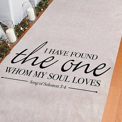 Song Of Solomon Aisle Runner - Wedding Ceremony Decorations - 3' x 100'