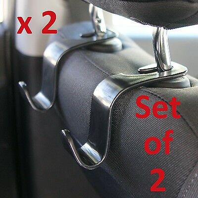 Car Headrest Hanger Hook Holder for Storage Bag Purse Toys - Set of 2