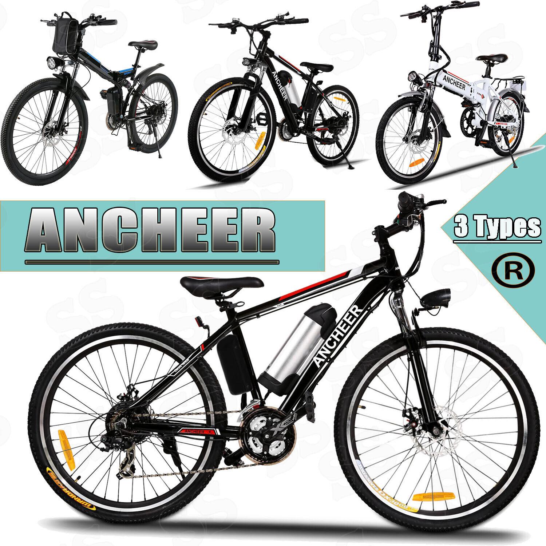ANCHEER Elektrofahrrad 26&20 Zoll ebike Mountainbike Bergfahrrad 8Ah Li-Ion Akku