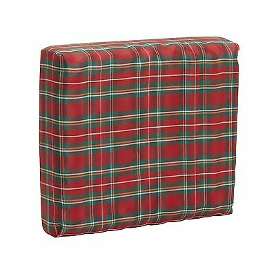 Mabis Wheelchair Seat Pad Convoluted With Plaid Cover, 1 ea